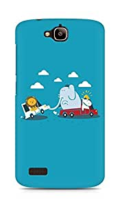 Amez designer printed 3d premium high quality back case cover for Huawei Honor Holly (Funny Cartoon)