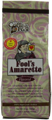 The Coffee Fool Very Fine Grind Coffee, Fool'S Amaretto, 12 Ounce