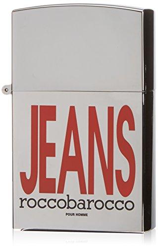 Roccobarocco Silver Jeans, Eau de Toilette da uomo, 75 ml