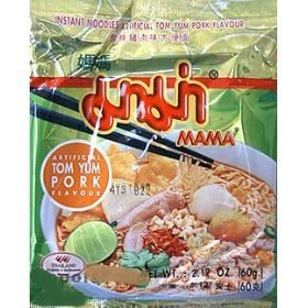 Mama Brand Thai Instant Noodles tom yum pork - 10 packs by Mama