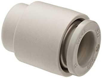 SMC KQ2C08-00A PBT Push-to-Connect Tube Fitting, Cap, 8 mm Tube OD