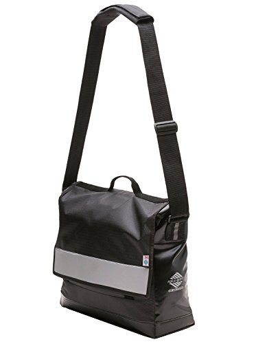 Aqua Quest Manhattan Brief Case / Messenger Bag - Water Resistant, Durable, Stylish, Reflective, Weather Resistant - Black & Reflective
