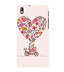 printtech Love Couple Cycle Cute Back Case Cover for HTC Desire 816::HTC Desire 816 G