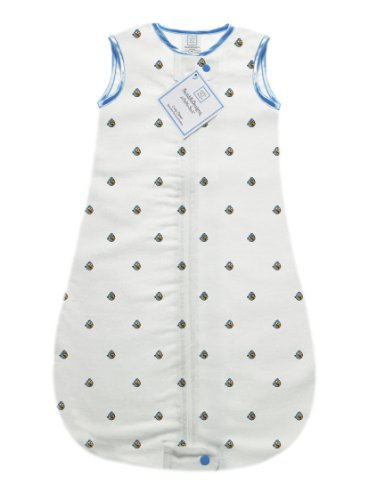 SwaddleDesigns zzZipMe Sack with 2-Way Zipper, Cotton Flannel Wearable Blanket, Angry Birds Baby, Blue Bird 3- 6 Months