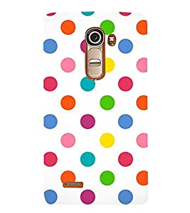 Fuson Premium Colorful Circles Printed Hard Plastic Back Case Cover for LG G4 Mini