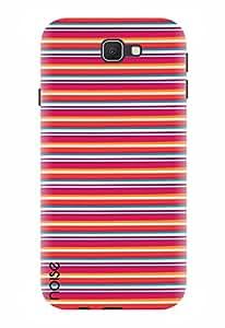 Noise Designer Printed Case / Cover for Samsung Galaxy J5 Prime / Patterns & Ethnic / Red Stripes Design