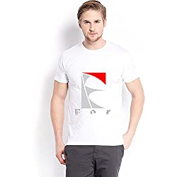 Trendster E Letter Printed Cotton White T Shirt