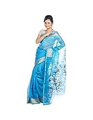 Shayeri Blue Silk Saree For Women