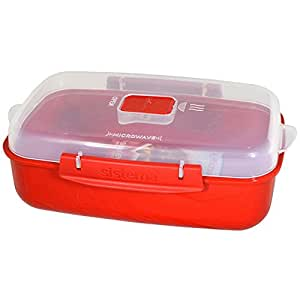 Amazon.com: Sistema Rectangular Microwave Lunch Container (One Size