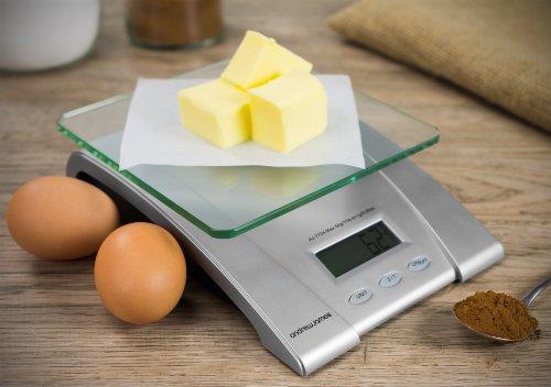 Andrew James - Balance De Cuisine Numérique Électrique Avec Plateforme En Verre - Piles Inclus - 2 Ans Garantie
