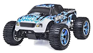 1/10 2.4Ghz Exceed RC Infinitve Nitro Gas Powered RTR Off Road Monster 4WD Truck Fire Blue ***STARTER KIT REQUIRED AND SOLD SEPARATELY***