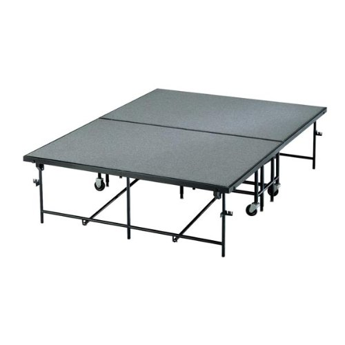 Midwest Folding Products Mobile Stage Section - Carpet Deck (8' L x 6' D x 8