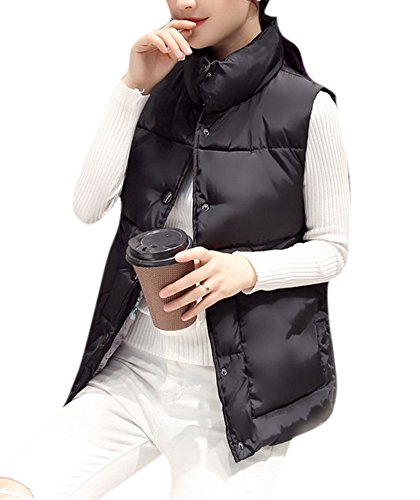 youtobin-womens-soft-down-cute-vests-recreational-stand-collar-jackets-3xl-black