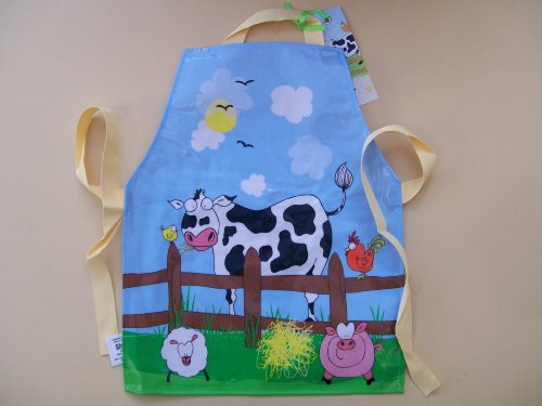 NEW 'DOWN ON THE FARM' CHILDREN'S WIPEABLE APRON