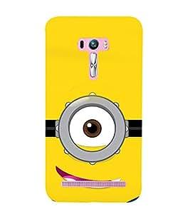 printtech Funny Yellow Face Glasses Back Case Cover for Asus Zenfone Selfie::Asus Zenfone Selfie ZD551KL