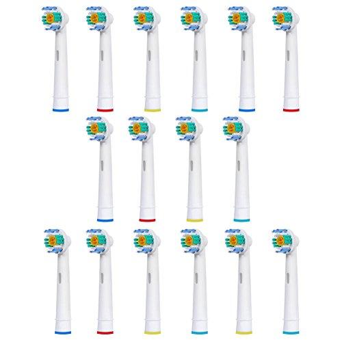 FantasyDay 16 stk Aufsteckbürsten Kompatibel für Braun Oral-B Zahnbürsten - Modell EB18-A - Kompatibel mit allen Oral B ElektrischeZahnbürste ( außer Sonic / Pulsonic )