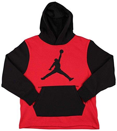 Jordan Big Boys' Basketball Hoodies (L(12-13YRS), Red/Black)