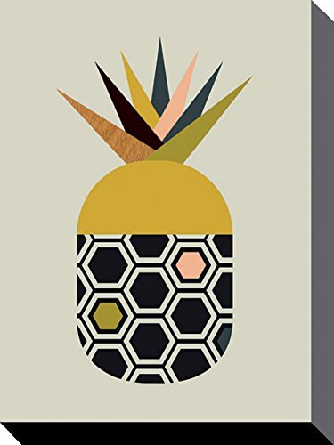 1art1 85785 Kochkunst - Ananas, Little Design Haus Poster Leinwandbild Auf Keilrahmen 40 x 30 cm