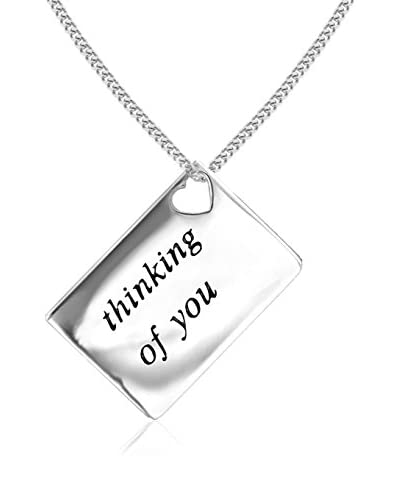 Lily and Lotty Collar Thinking Of You Love Letters 0.01 ct Diamond