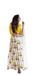 Yellow Georgette Embroidered Lehenga