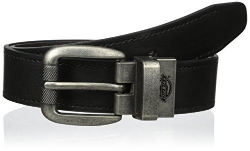 Dickies Big Boys' 30mm Reversible with Logo, Black/Brown, Medium