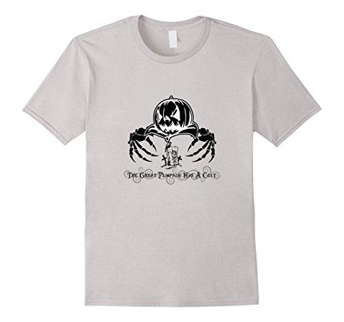 Men's The Great Pumpkin Has A Cult T-Shirt 3XL Silver (Cult Classic Halloween Costume Ideas)