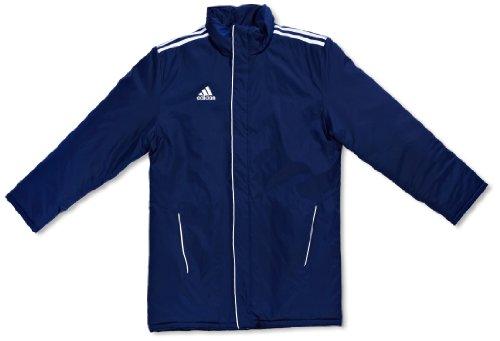 adidas, Teamline Core 11, Giubbotto da stadio bambini NEWNAVY/WHIT, Multicolore (marine/weiß), 140 cm