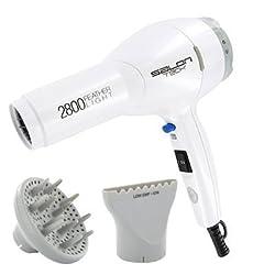 Salon Tech Pbd02 2800 Featherlight Professional Ionic Tourmaline Hair Dryer, 1875 Watt