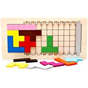 Little Star Unlock New Tetris Puzzle Parent Child Interaction Wooden 3d Puzzle Can Set Different Difficulty Puzzle...