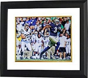Michael Floyd signed Notre Dame Fighting Irish 8x10 Photo Custom Framed- Steiner...