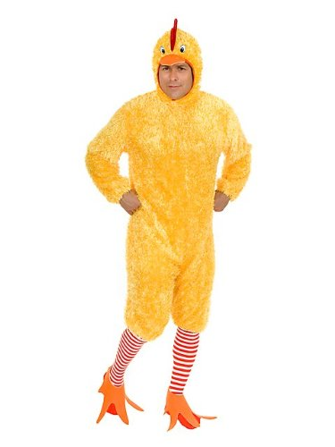 Charades Men's Adult Funky Chicken Costume Set