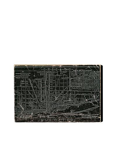 "Oliver Gal Chicago Railroad Canvas Art, Multi, 16"" x 24"""