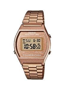 Casio B640WC-5AEF - Reloj digital de cuarzo para hombre con correa de acero inoxidable, color dorado