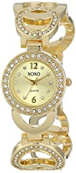 XOXO Women's XO5668 Analog Display Quartz Gold Watch