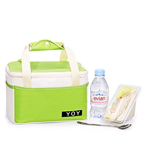 YOY Thermal Insulated Lunch Box Tote Cooler Bag Bento Pouch Lunch Container,Green - 1