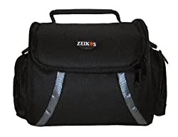 Zeikos Ze-Ca48B Deluxe Soft Medium Camera And Video Bag