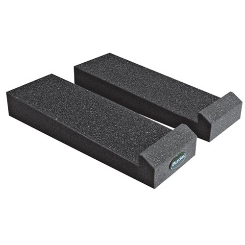Auralex Mopad 12 Inches By 4 Inches Monitor Acoustic Isolation Pads, Charcoal (1 Pair)