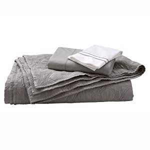Home Decorators Collection Hotel Quilt Set, FULL/QUEEN, GRANT GRAY