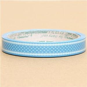Linda cinta adhesiva decorativa azul con lunares blancos   Comentarios de clientes y más información