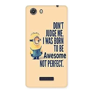 Cute Quote Minio Yel Back Case Cover for Micromax Unite 3