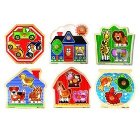 Jumbo Knob Puzzles (Set Of 6) back-348550