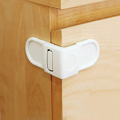 baby mate 12 pcs safety angle locks for drawers and cabinets baby safety cabinet locks. Black Bedroom Furniture Sets. Home Design Ideas