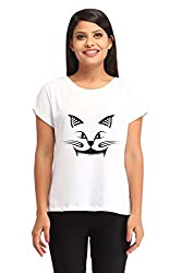 Snoby Cat Face Printed T-shirt