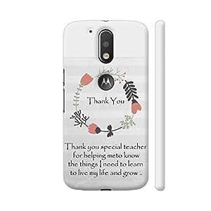 Colorpur Thank You Teacher Artwork On Motorola Moto G4 / Moto G4 Plus Cover Cover (Designer Mobile Back Case)   Artist: Dolly P