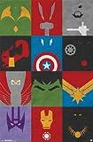 (22x34) Avengers - Minimalist Grid Comic Superhero Poster
