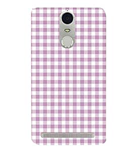 Checks Pattern 3D Hard Polycarbonate Designer Back Case Cover for Lenovo Vibe K5 Note