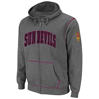 NCAA Arizona State Sun Devils Mens Blackout Full-Zip Fleece Hoodie by Colosseum
