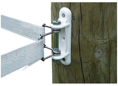 Patriot Wood Post Wide Tape Corner/End Strain Insulator - White