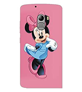 PrintDhaba Minnie Mouse D-5334 Back Case Cover for LENOVO K4 NOTE A7010a48 (Multi-Coloured)
