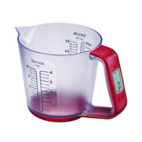 Taylor 3890 Digital Scale with Measuring Cup - 6.60 lb / 3 kg Maximum Weight Capacity by Taylor